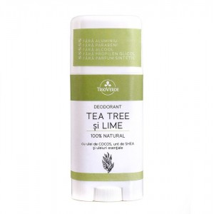 Deodorant natural cu tea tree și lime