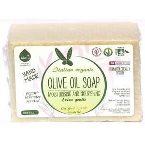 Săpun solid ecologic cu ulei de măsline și lavandă 140g