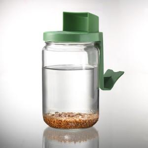 Germinator tip borcan cu protecție la scurgerea apei